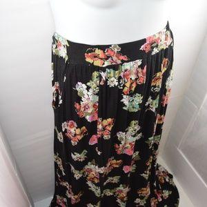 American Rag Skirts - American Rag Long Flowy Floral Double Split Skirt